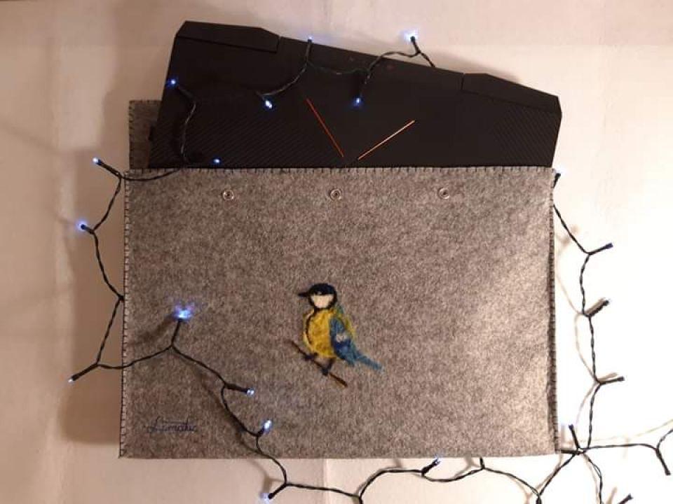 Husă de laptop cu pițigoi
