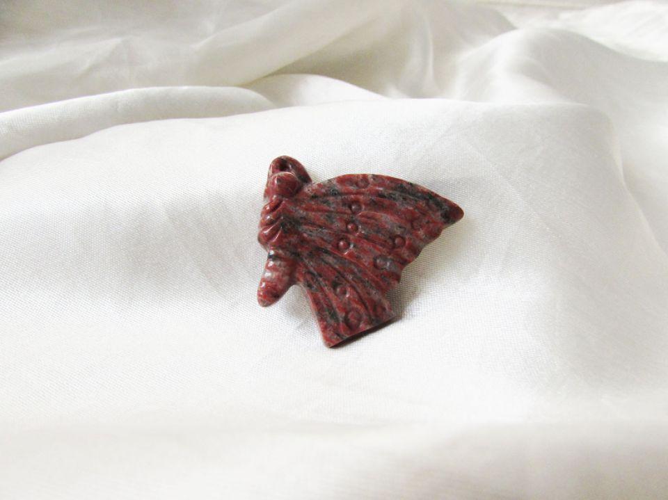 Cabochon  jasper natural sculptat manual