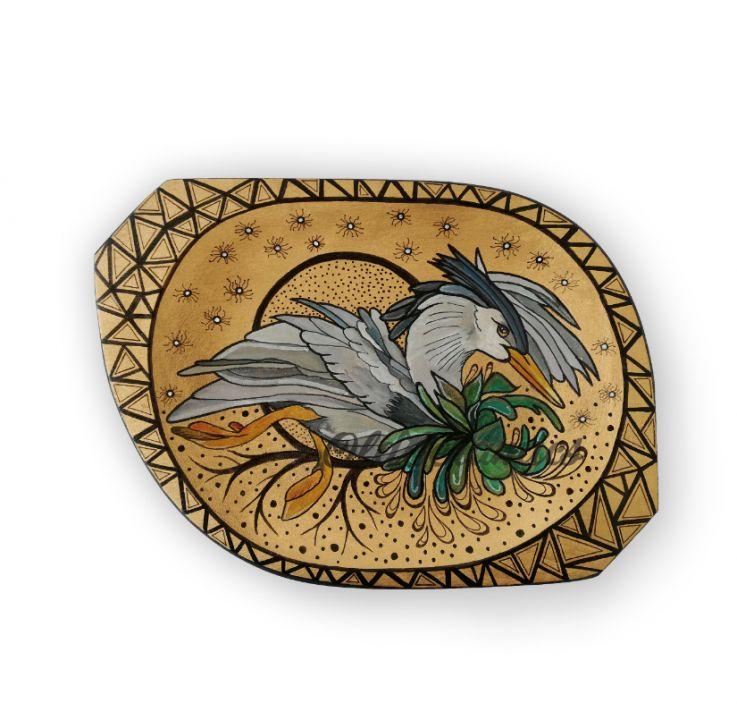 Tavita din lemn pictata - Cocor