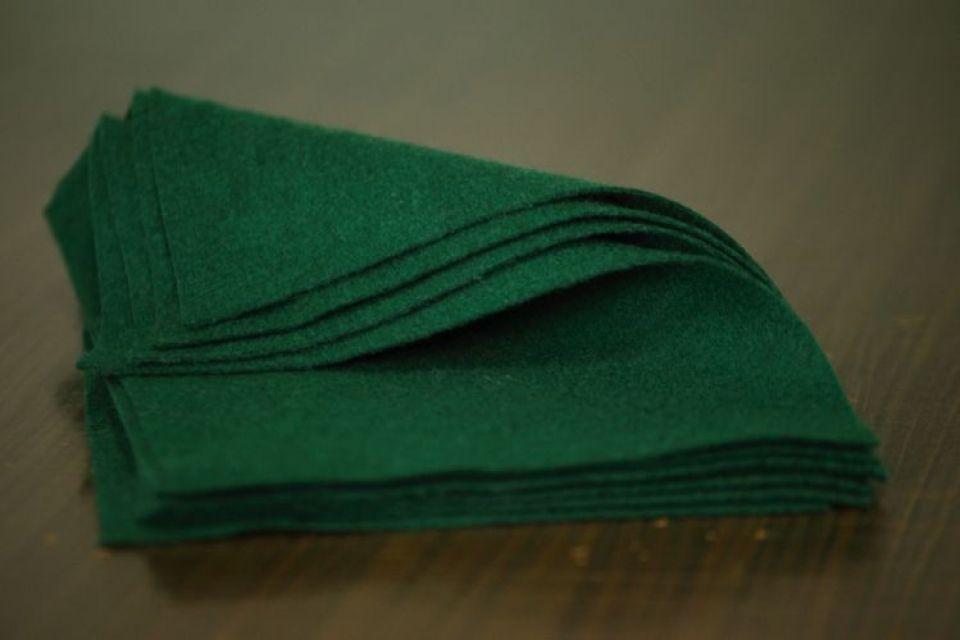Fetru din lana- A4-  verde brad