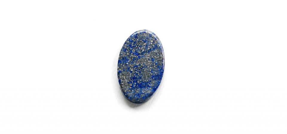 Cabochon  Lapis Lazuli  - oval plat - cu 2 fete -L11