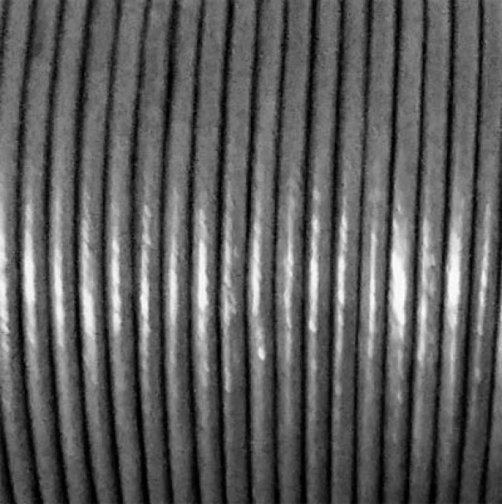 Snur piele naturala 1.5mm gri inchis metalizat