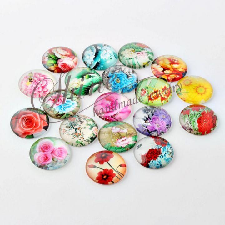 Cabochon floral, 14x5mm