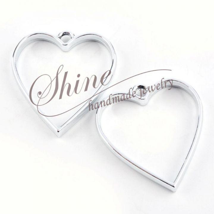 Pandantiv inima, platinum, 34x30.2x3.7mm