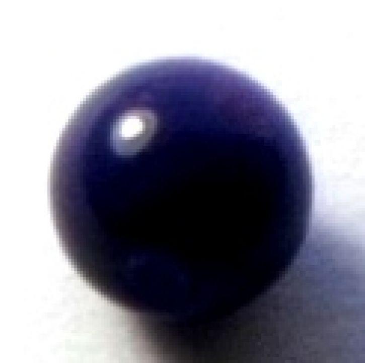 Margele sticla albastru cerneala 6 mm